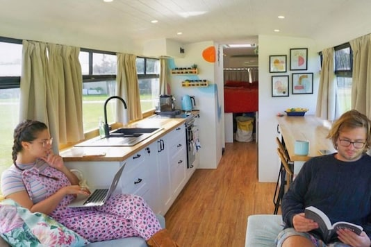 The couple spent a lot of time watching YouTube tutorials on creating tiny and mobile homes. (Credit: Hanny and Harry Buslifee/Instagram)