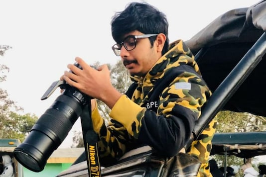 File image of Dhruv Patil with his camera.