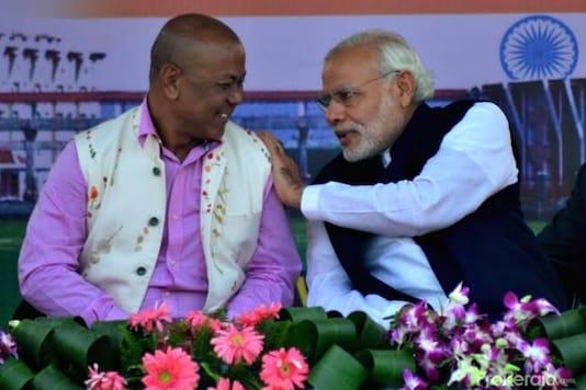 File photo: Hagrama Mohilary with PM Modi