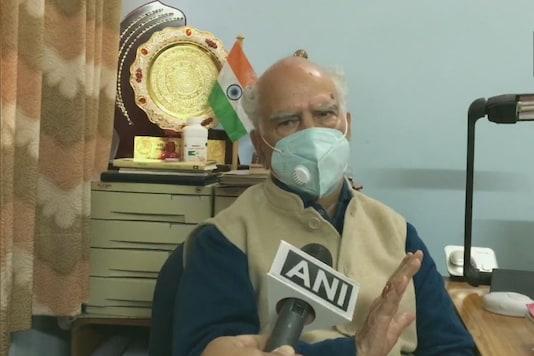 File photo of BJP leader and former Himachal Pradesh CM Shanta Kumar. (Image: Twitter/ANI)