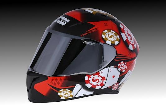 Studds Thunder D6 Decor Full-Face Helmet. (Image source: Studds)
