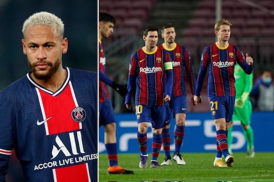 Neymar (L) and FC Barcelona (Photo Credit: Reuters)
