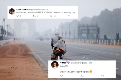 Netizens reacted with jokes and memes on delhi's winter.