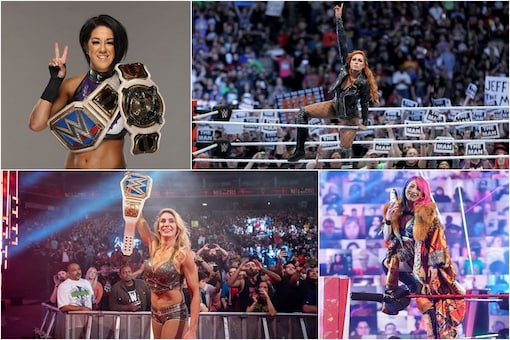 Top 100 women wrestlers of 2020 (Photo Credit: Bayley, Becky Lynch, Asuka, Charlotte Flair Twitter)