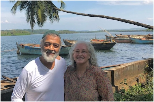 Nafisa Ali with Lucky Ali