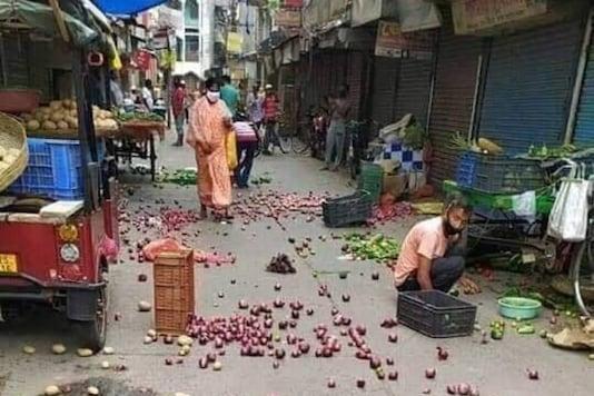 Viral photo being shared as Bharat Bandh .