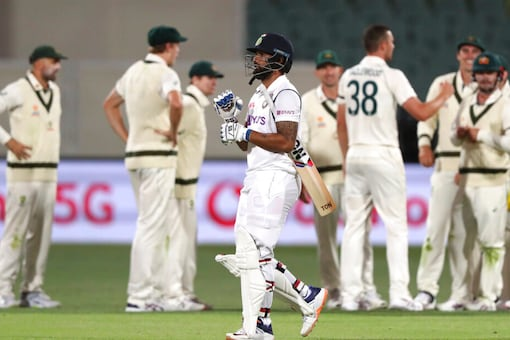 Soon after, Hanuma Vihari too was trapped LBW by Josh Hazlewood and India were reduced to 206/6. (Source: AP)
