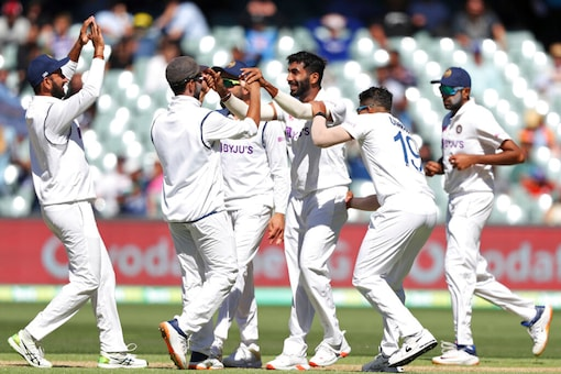 As Australia came out to bat, Indian bowlers hit back. Bumrah removed Matthew Wade. (Source: AP)