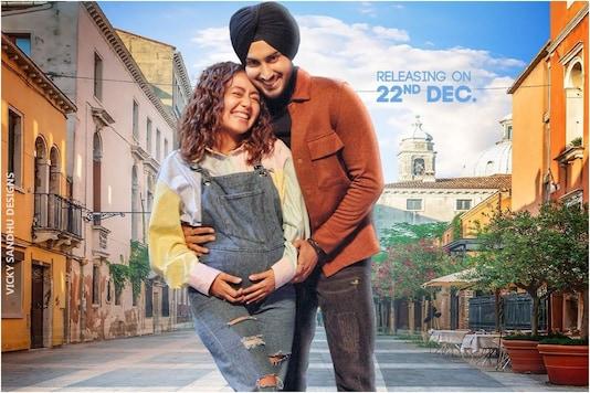Neha Kakkar's Baby Bump Pic is Actually from Poster of New Song 'Khyaal Rakhya Kar' with Husband Rohanpreet