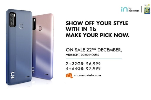 Micromax In 1b sale in India