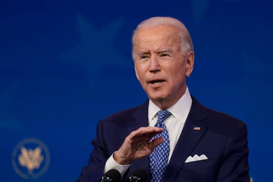 President-elect Joe Biden speaks at The Queen Theater in Wilmington, Delaware on December 22, 2020. (AP Photo/Carolyn Kaster)
