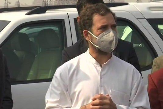 File photo of Congress leader Rahul Gandhi during a protest against farm laws.