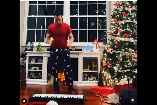 The video of a man playing a unique rendition of Christmas carol by using tennis balls has gone viral on the internet. (Credit: instagram)