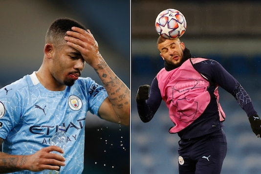 Gabriel Jesus (L) and Kyle Walker (Photo Credit: Reuters)