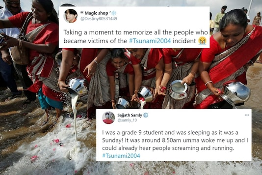 People offered tributes to victims of 2004 Tsunami. Credit: Twitter