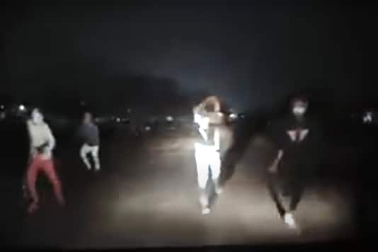 A screenshot from the car hijack attempt that was caught on cam.