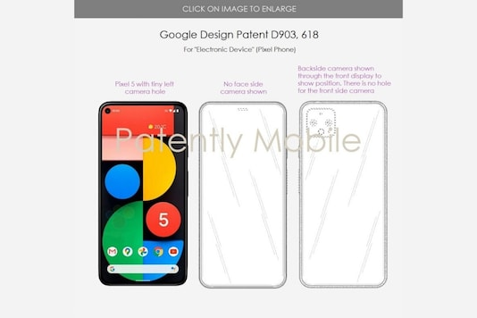 Google patent that hints at a bezel-less display. (Image Credit: Patently Mobile)