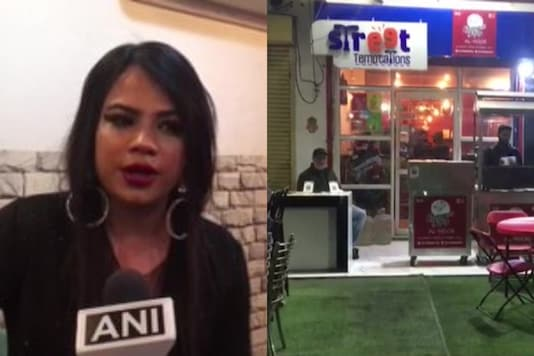 Urooz Hussain, a transgender woman has started a cafe at Sector 119, Noida. (Credit: ANI/twitter)
