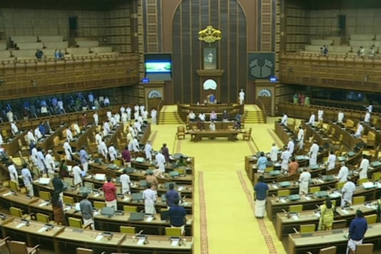 Kerala assembly passes resolution against farm laws. (Image credits: ANI)