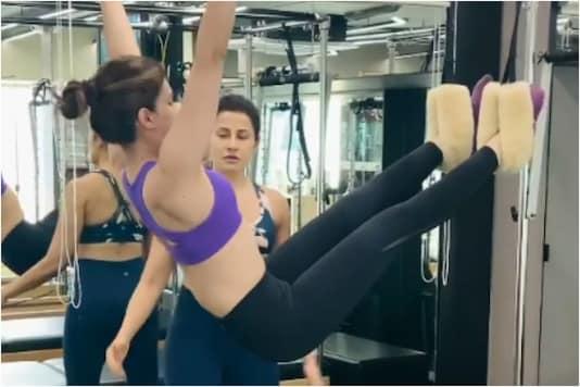 Kriti Sanon does pilates