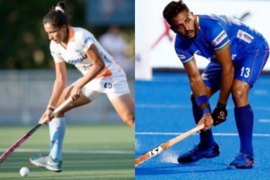 Rani Rampal and Manpreet Singh (Photo Credit: Hockey India)