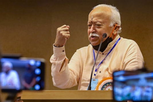 Kozhikode: RSS chief Mohan Bhagwat speaks during the inauguration of 'Kesari Media Studies and Research Center', in Kozhikode, Tuesday, Dec. 29, 2020. (PTI Photo)