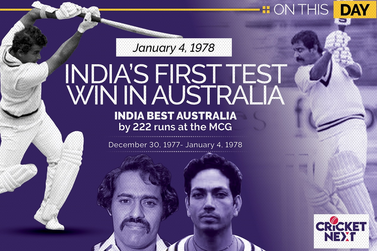 On This Day, January 4 1978: India's First Test Win in Australia