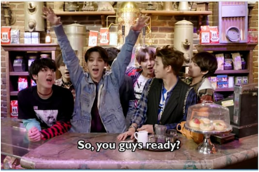 Watch How BTS Surprised its Fans on the Sets of Friends in This Pre-Covid Memory