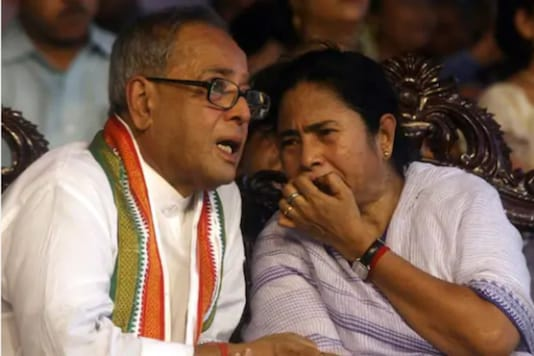 File photo of Mamata Banerjee with Pranab Mukherjee
