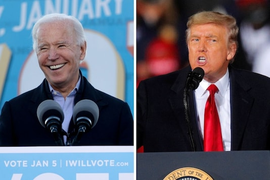 US president-elect Joe Biden and outgoing president Donald Trump in file photos. (Reuters)