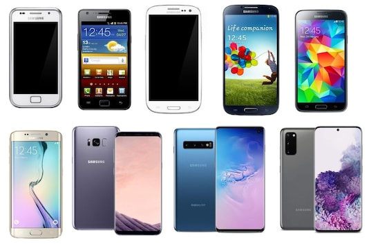 Samsung Galaxy S series, over the years.