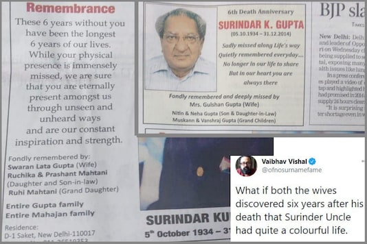 Curious Case of Mr Gupta's 'Two Families' Remembering Him on Death Anniversary Has Baffled Twitter