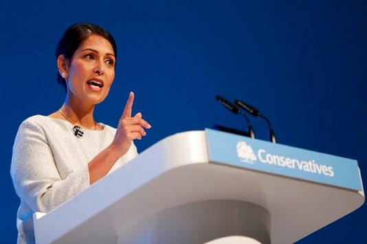 Britain's Home Secretary Priti Patel. (File photo/AP)