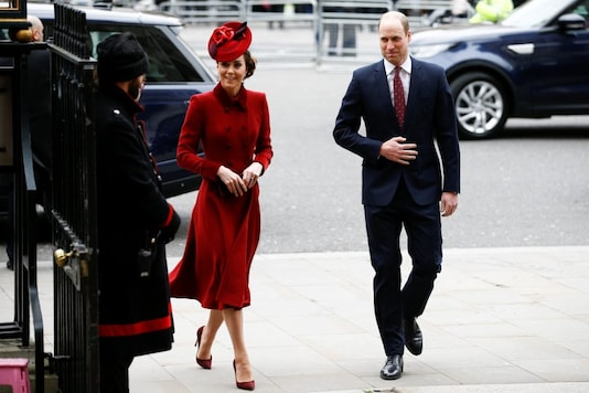Britain's Prince William and Catherine, Duchess of Cambridge, arrive for the annual Commonwealth Service at Westminster Abbey in London, Britain March 9, 2020. REUTERS/Henry Nicholls - RC2FGF93FCQH