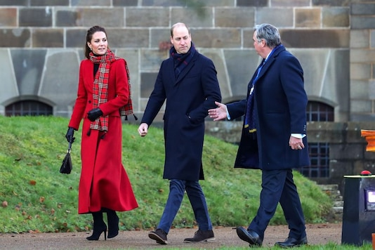 File photo of Britain's Prince William with Catherine, Duchess of Cambridge