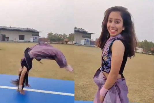 Parul had said that she found it very difficult to pull off the flip when she tried for the first time, but with practice and persistence, she mastered it. (Photo: Twitter)