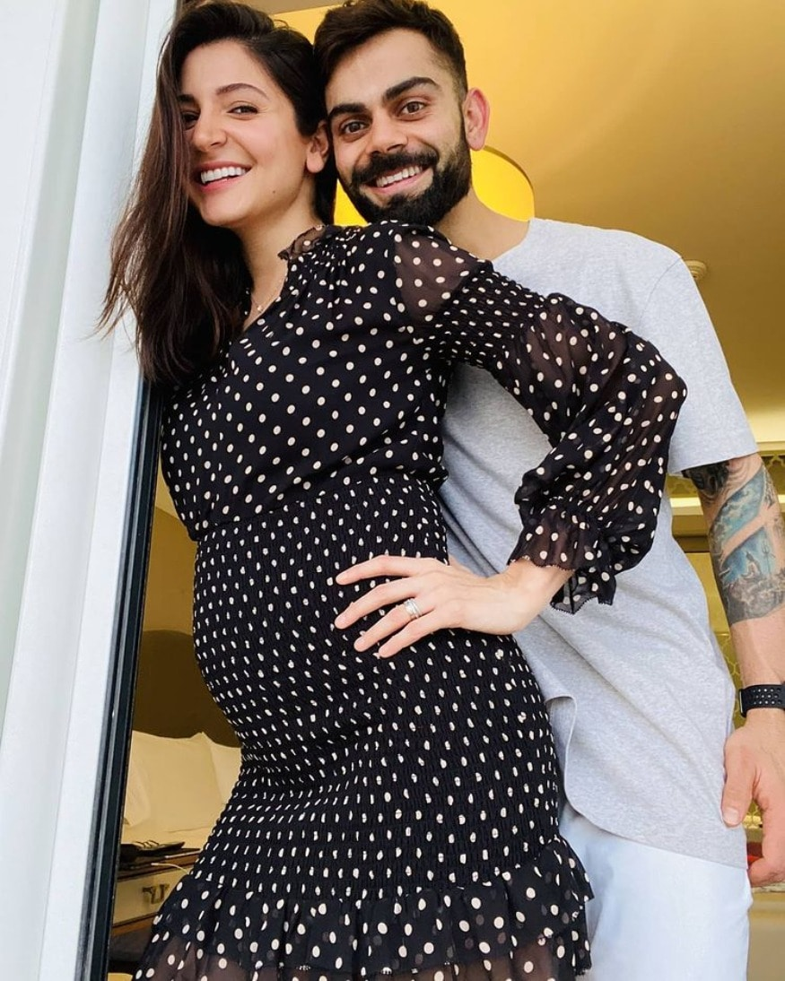 A bevy of beauties - Anushka Sharma, Kareena Kapoor Khan and Anita Hassanandani - are set to welcome new members in their respective families. Ever since the announcement of their pregnancies, the mommies-to-be have been seen sporting the cutest maternity outfits. Seen here is Anushka in a polka dotted dress. (Image: Instagram)
