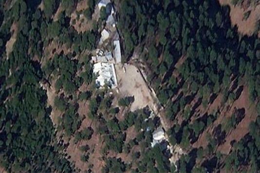 A satellite image of where the Balakot airstrike took place.