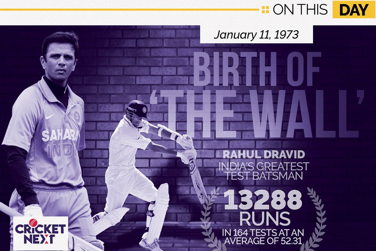 Happy Birthday Rahul Dravid: 5 Numbers that Define the Career of 'The Wall'