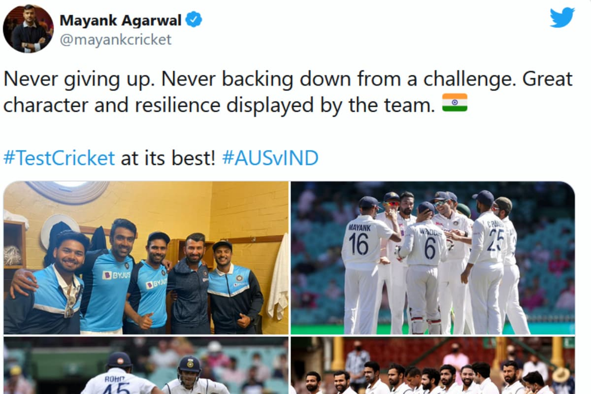 India vs Australia: Players, Ex-Cricketers Hail 'Resilient' Team India on Twitter