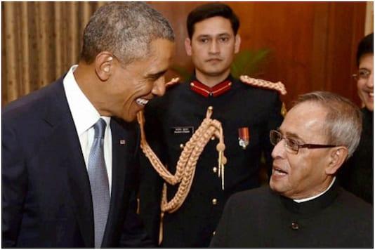 Pranab Mukherjee and Barack Obama | Image credit: Reuters