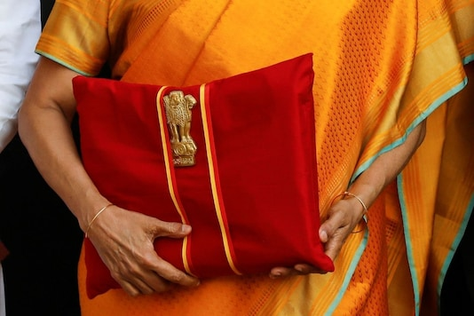 India's Finance Minister Nirmala Sitharaman holds budget papers during a photo opportunity as she leaves her office to present the federal budget in the parliament in New Delhi, India, February 1, 2020. REUTERS/Anushree Fadnavis