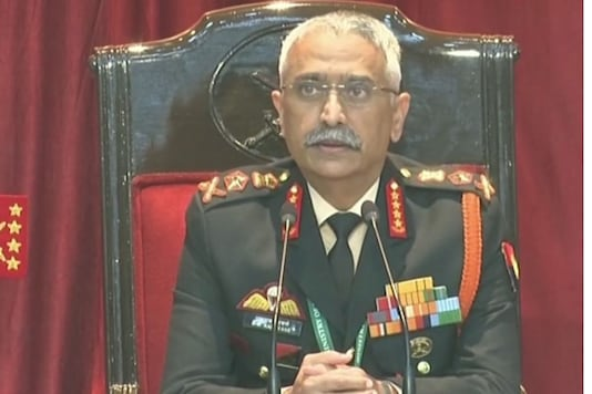Army chief Manoj Mukund Naravane addresses a press conference. (ANI photo).