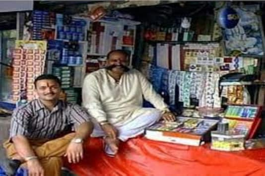 File photos of the famous Muchhad Paanwala shop.