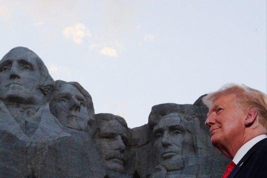 U.S. President Donald Trump is seen in front of Mt. Rushmore. (Reuters/only for representation)