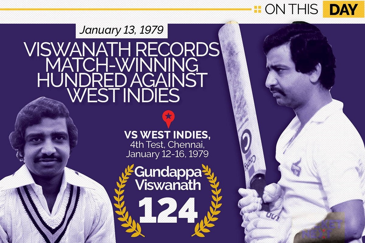 On This Day, January 13 1979: G Viswanath's Splendid Hundred Defines the Series For India