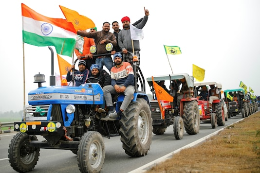 Farmers participate in a tractor rally to protest against the newly passed farm bills. (Image for representation: Reuters)