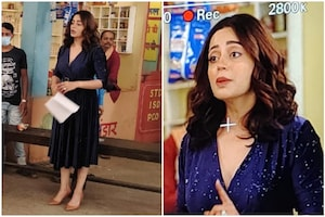 Nehha Pendse Starts Shooting For Bhabiji Ghar Par Hain; See Pics Straight From The Sets