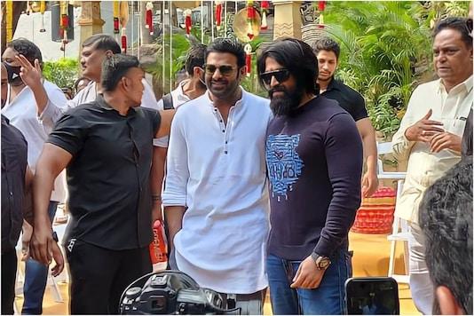 Prabhas and Yash at 'Salaar' launch