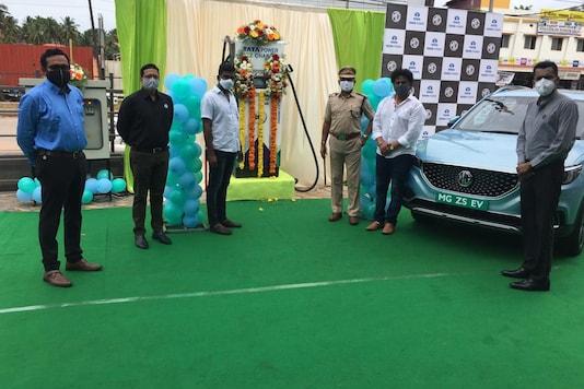 MG Motor India and Tata Power deploy new EV Charging Station. (Image source: MG Motor)